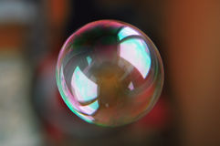 Colorful soap bubble transparent with bright clear reflection Royalty Free Stock Photography
