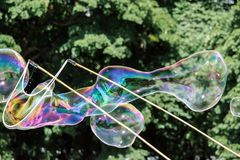 Colorful soap bubbles in air. Colorful soap bubbles fly in air Royalty Free Stock Photos