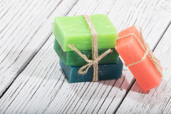 Colorful soap in different colors Royalty Free Stock Images