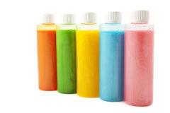 Colorful soap in a row Royalty Free Stock Images