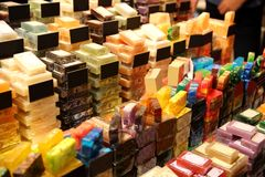 Colorful Soaps in Grand Bazaar Istanbul Turkey royalty free stock image