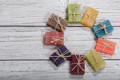 Colorful soaps Stock Photography