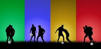Colorful Soccer Background Royalty Free Stock Photos