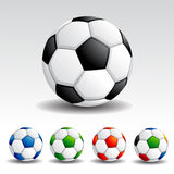 Colorful Soccer Ball Stock Image