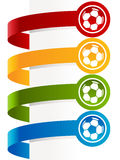 Colorful Soccer Ball Banners Stock Images
