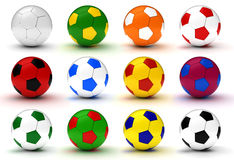Colorful Soccer Balls Stock Images