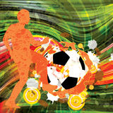 Colorful soccer grunge retro background Stock Image