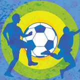 Colorful soccer grunge retro background Stock Photography