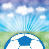 Colorful soccer grunge retro background Royalty Free Stock Photo