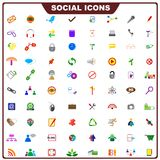 Colorful Social Icon Stock Photo