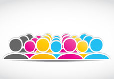 Colorful social network design Stock Photo