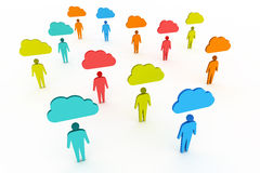 Colorful Social Network People Royalty Free Stock Photography