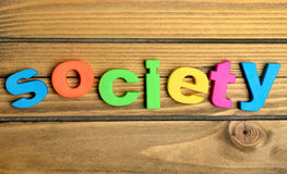 Colorful Society word Stock Photos