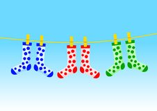 Colorful socks Stock Image