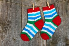 Colorful socks Royalty Free Stock Photo