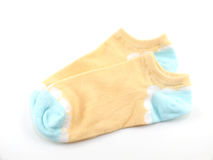 Colorful of socks isolate on white background Royalty Free Stock Photography
