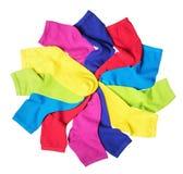 Colorful socks isolated Stock Photo