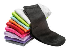 Colorful socks isolated on white Royalty Free Stock Images