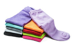 Colorful socks isolated on white Stock Photography