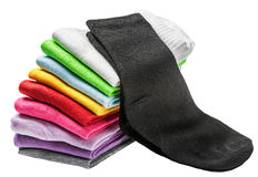 Colorful socks isolated Stock Image
