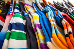 Colorful Socks. Socks Colorful in the Store Royalty Free Stock Images