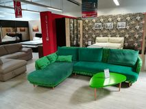 Colorful sofas. For bedrooms and living rooms Royalty Free Stock Photography
