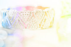 Colorful soft blur diamond bracelet Stock Photo
