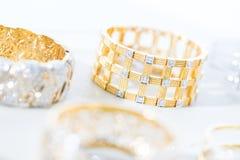 Colorful soft blur diamond bracelet Stock Photos