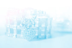 Colorful soft blur heart shape diamond bracelet Stock Photography