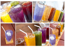 Colorful soft drink Stock Photos