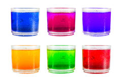 Colorful soft drink. Royalty Free Stock Photography