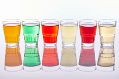 Colorful soft drinks Stock Photography