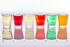 Colorful soft drinks Royalty Free Stock Photos