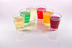 Colorful soft drinks Royalty Free Stock Image
