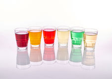 Colorful soft drinks Stock Photo