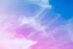 Colorful soft focus of cloud and sky in pastel vintage and retro style for backdrop background. Beautiful colorful soft focus of cloud and sky in pastel vintage Stock Image