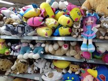 Colorful soft toys Royalty Free Stock Images