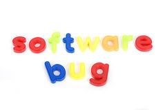 Colorful software bug  letters Stock Photography