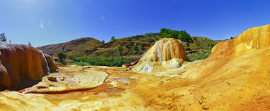 Colorful soil of Analavory geysers Stock Photography