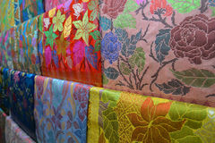 Colorful Songket fabric Royalty Free Stock Image