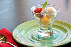 Colorful Sorbet. A colorful sorbet on a table Stock Photography