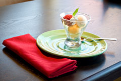 Colorful Sorbet II. A colorful sorbet on a table Royalty Free Stock Images