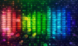 Colorful sound level meter equalizer background Royalty Free Stock Photos