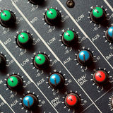 Colorful sound mixer Royalty Free Stock Photos