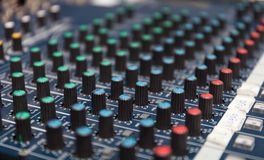 Colorful sound mixer. Texture design. amplifier equipment Royalty Free Stock Photography