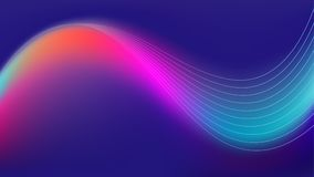 Colorful sound wave technology background. Colorful sound wave technology vector background Royalty Free Stock Photos