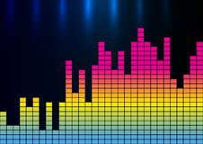 Colorful sound wave vector illustration Royalty Free Stock Photo