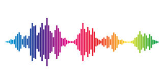 Colorful Sound waves Royalty Free Stock Image