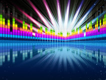 Colorful Soundwaves Background Shows Music Frequencies And Brigh Royalty Free Stock Photo