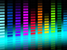 Colorful Soundwaves Background Shows Musical Songs And DJ Stock Photo